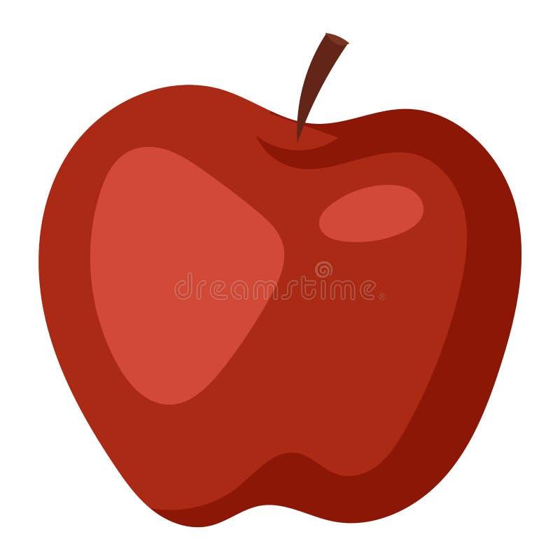 Ícone fresco da maçã ilustração do vetor