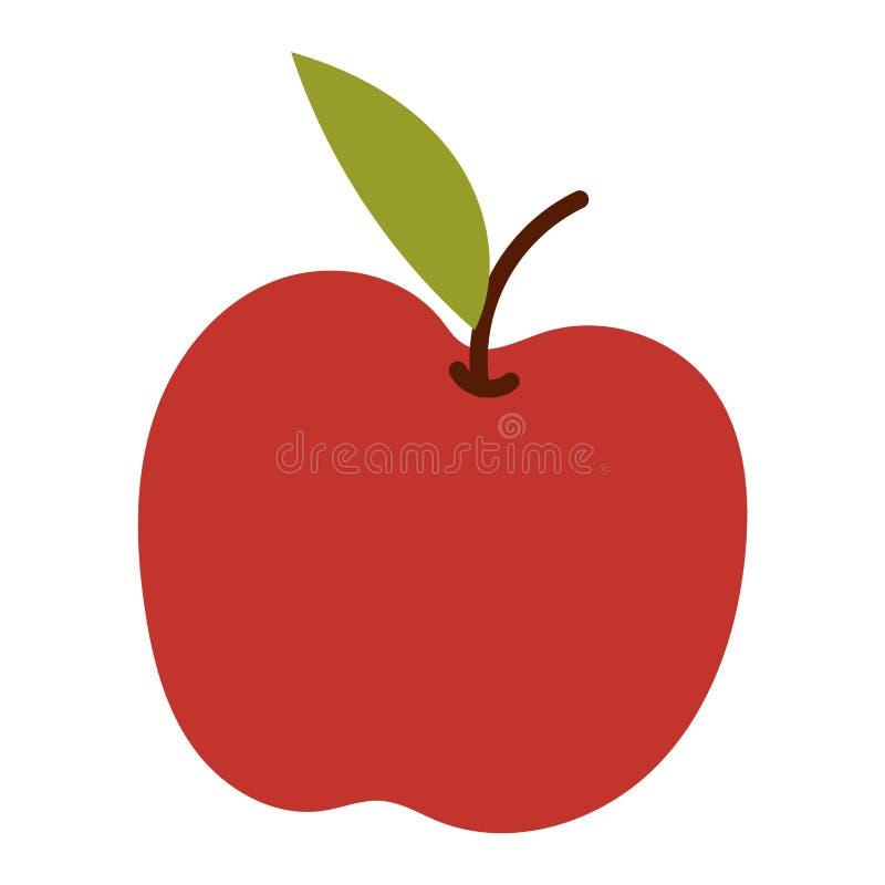 Ícone fresco da maçã ilustração stock
