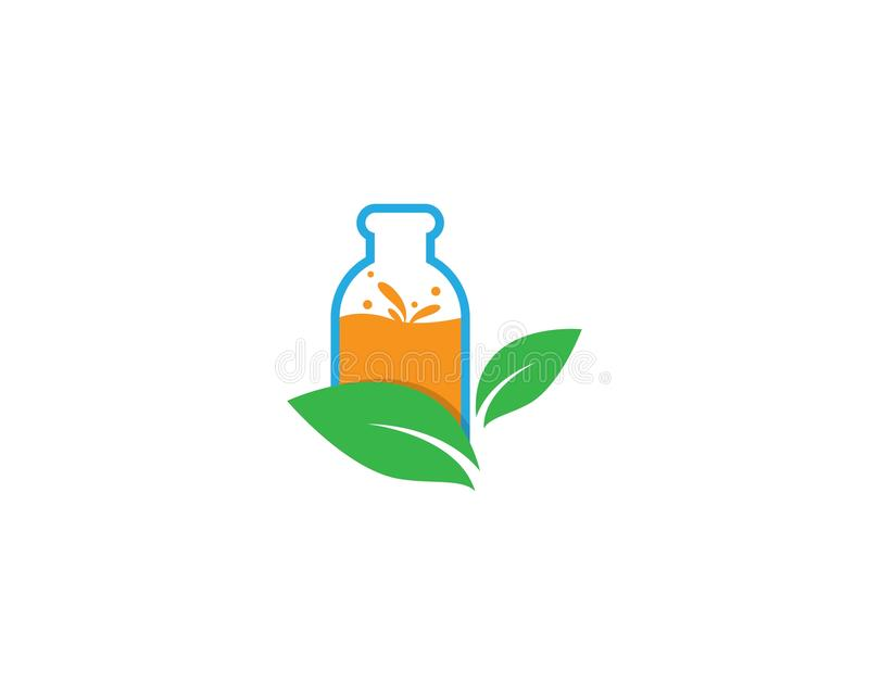 Ícone fresco do logotipo do suco ilustração stock