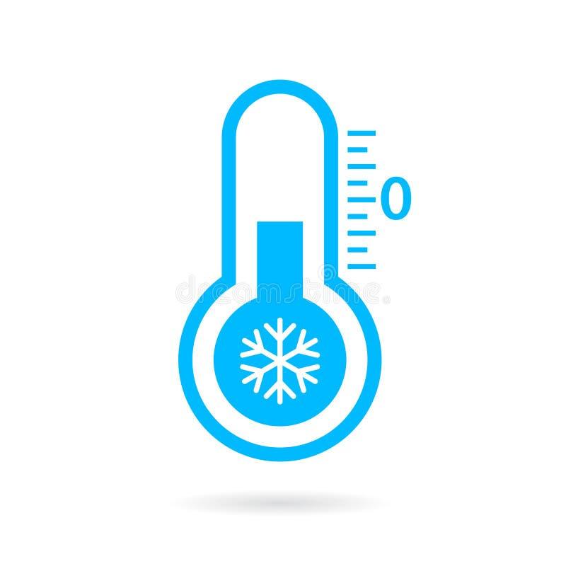 Ícone frio do vetor da temperatura ilustração royalty free