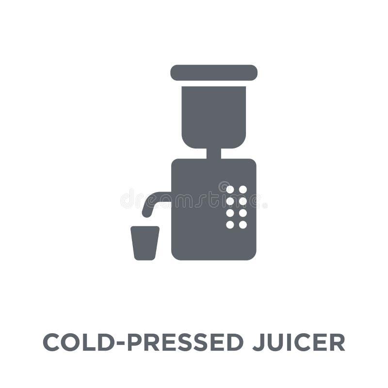 ícone Frio-pressionado do juicer da coleção dos dispositivos eletrónicos ilustração stock