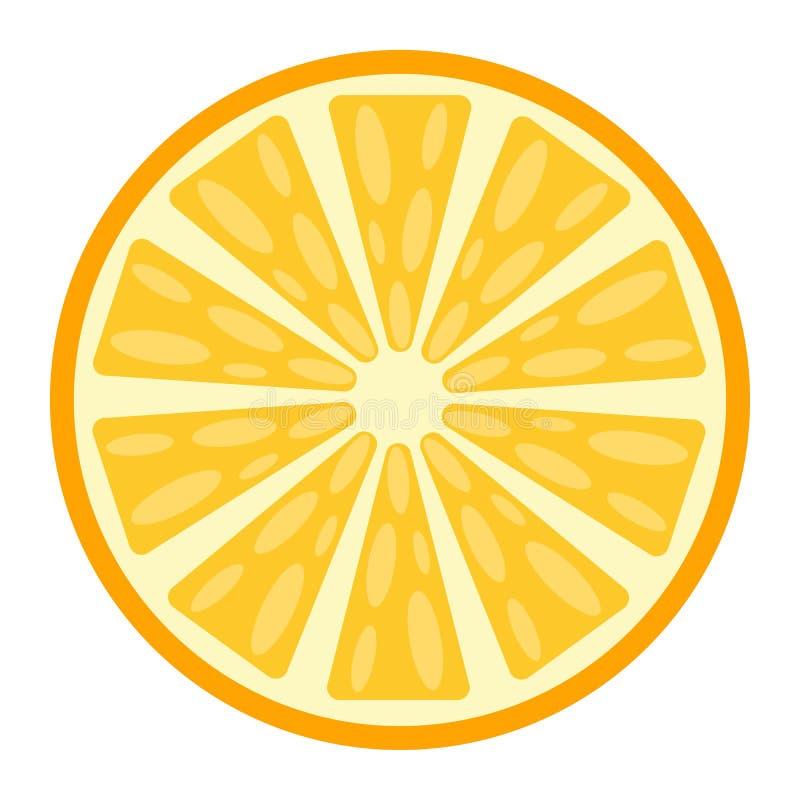 Ícone, fruto e vitamina lisos alaranjados ilustração stock