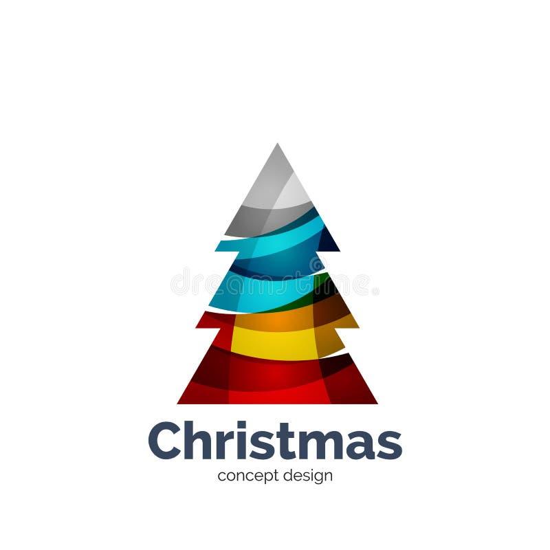 Ícone geométrico abstrato da árvore de Natal do vetor ilustração stock