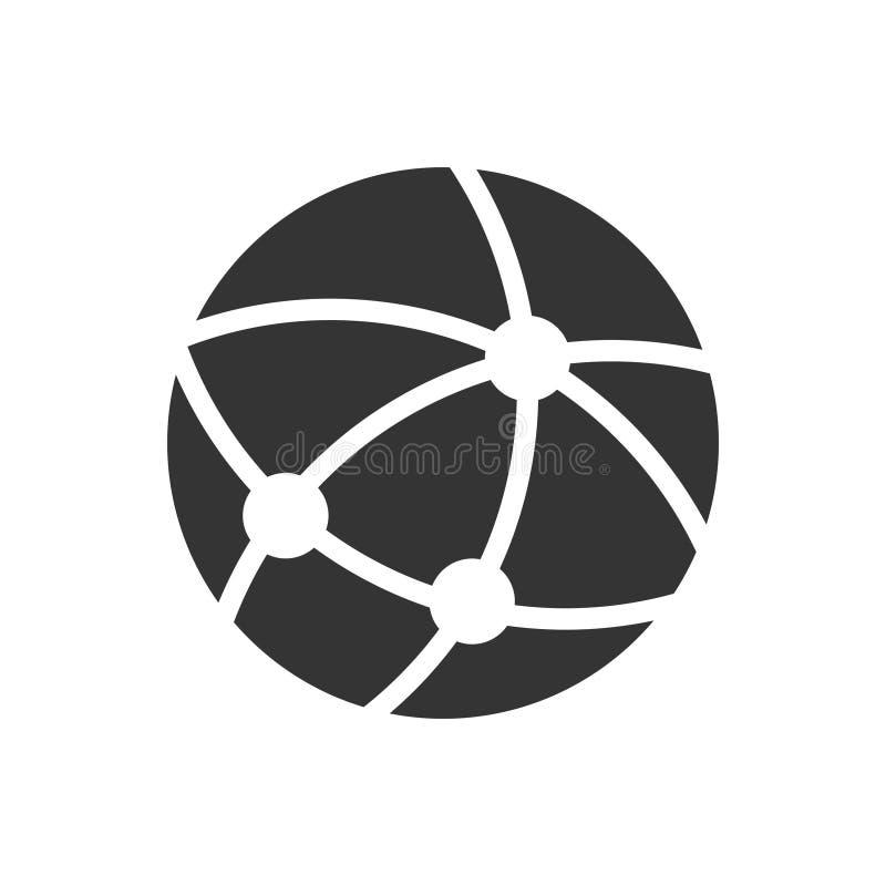 Ícone global da conexão ilustração stock