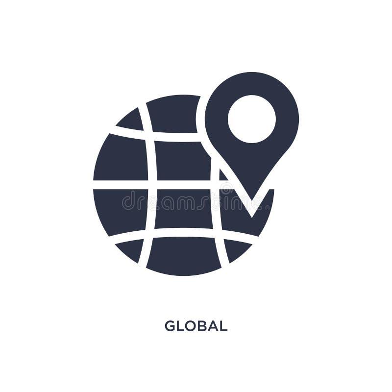 ícone global da distribuição no fundo branco Ilustração simples do elemento do conceito da entrega e da logística ilustração stock