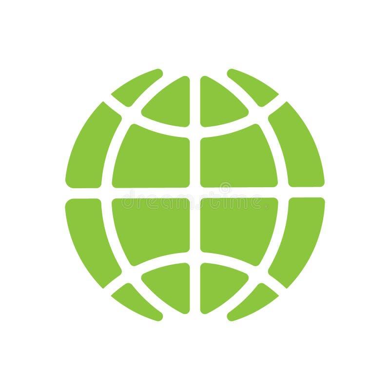 Ícone global do vetor da tecnologia, guardando o globo, ícone social do vetor da rede ilustração stock