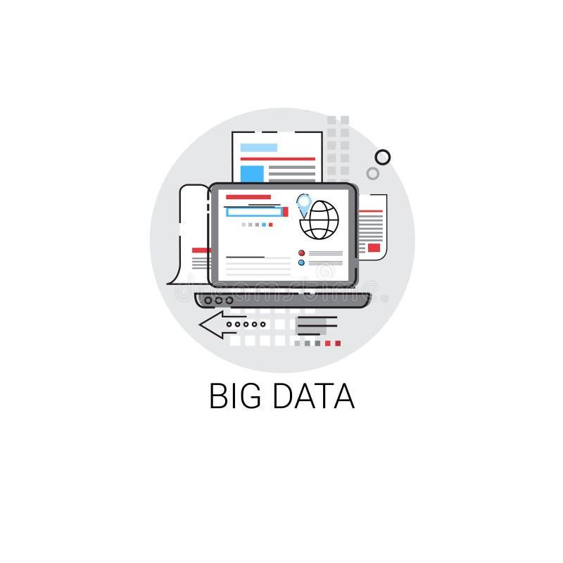 Ícone global dos dados do fluxo de informação ilustração royalty free