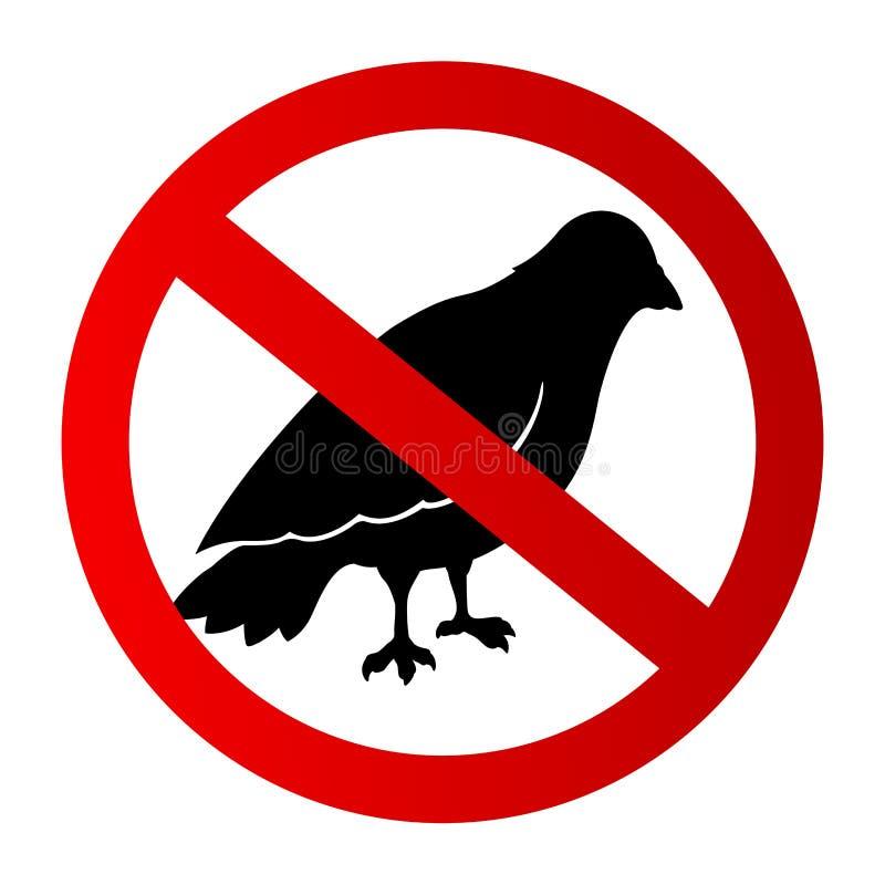 Ícone gráfico com a silhueta preta restrita do pássaro ilustração stock
