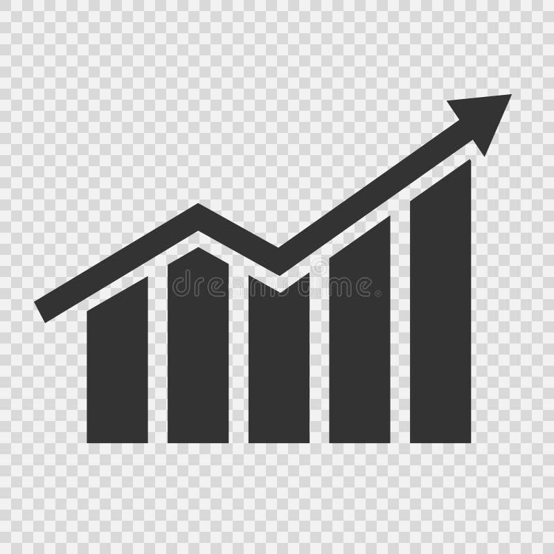 Ícone gráfico crescente ilustração stock