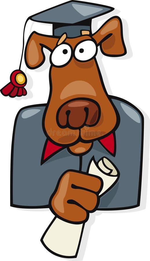 Ícone graduado do vetor do cão ilustração royalty free