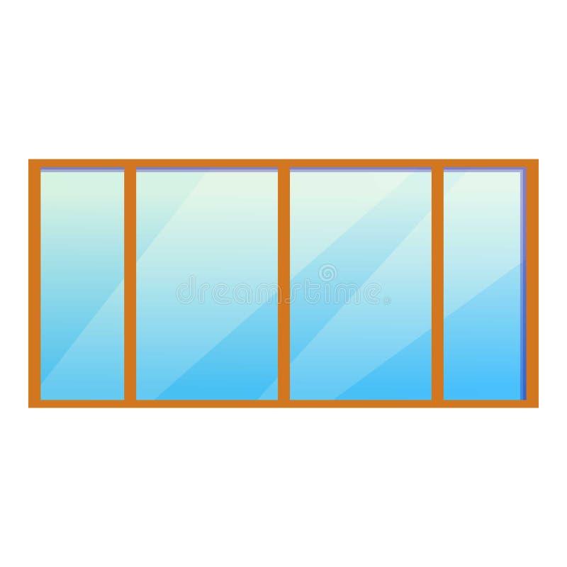 Ícone grande da janela do escritório, estilo dos desenhos animados ilustração do vetor