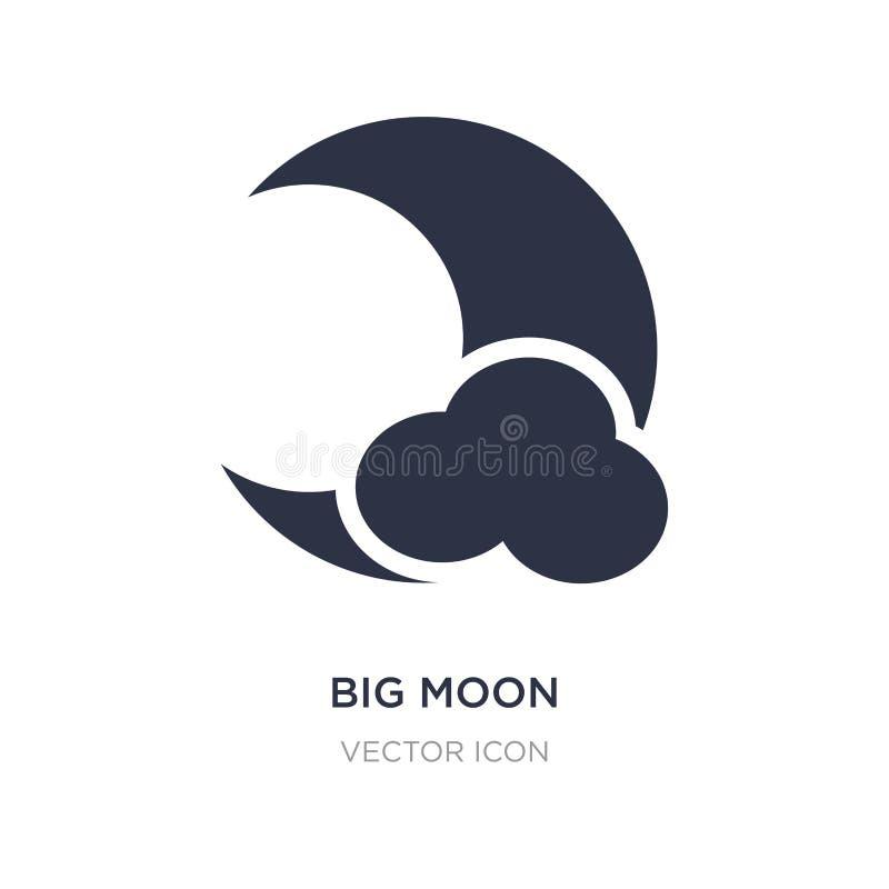 ícone grande da lua no fundo branco Ilustração simples do elemento do conceito da astronomia ilustração royalty free