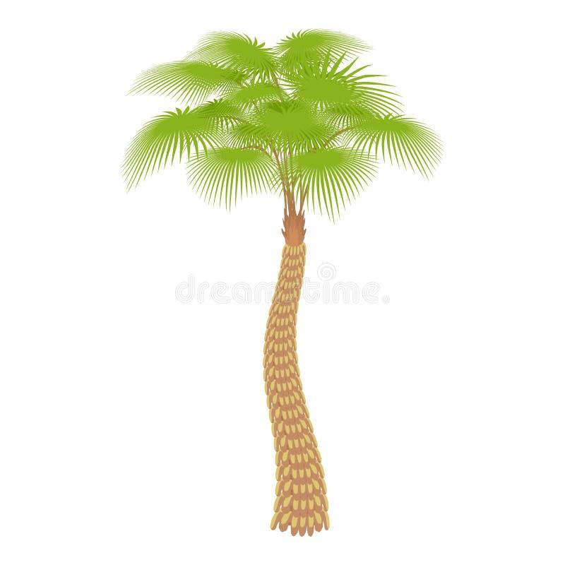 Ícone grande da palmeira, estilo dos desenhos animados ilustração do vetor