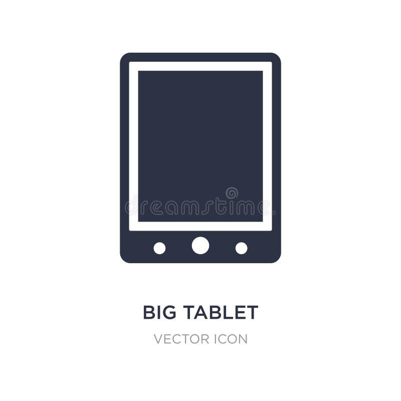 ícone grande da tabuleta no fundo branco Ilustração simples do elemento do conceito de hardware ilustração do vetor