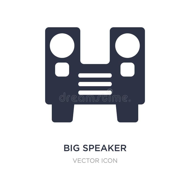 ícone grande do orador no fundo branco Ilustração simples do elemento do conceito do partido ilustração do vetor