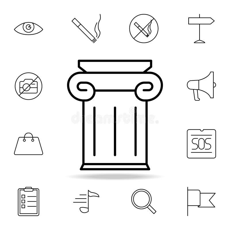 Ícone grego do pódio Elemento do ícone simples para Web site, design web, app móvel, gráficos da informação Linha fina ícone para ilustração royalty free