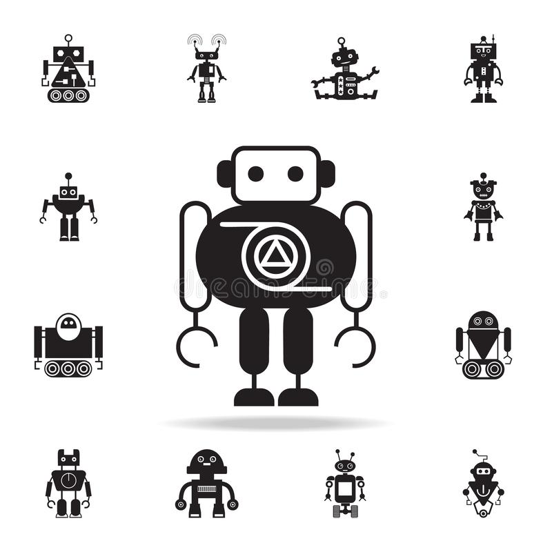ícone grosso do robô Grupo detalhado de ícones do robô Projeto gráfico superior Um dos ícones da coleção para Web site, design we ilustração royalty free