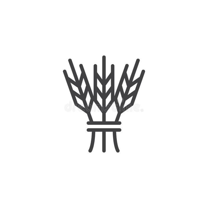 Ícone hebreu do esboço do cereal ilustração do vetor
