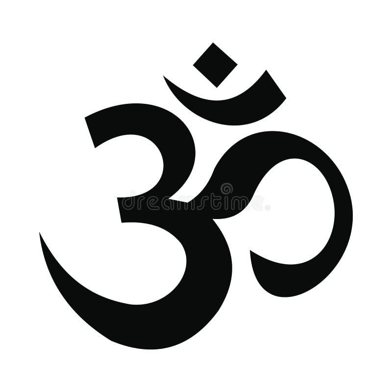 Ícone hindu do símbolo do OM, estilo simples ilustração stock