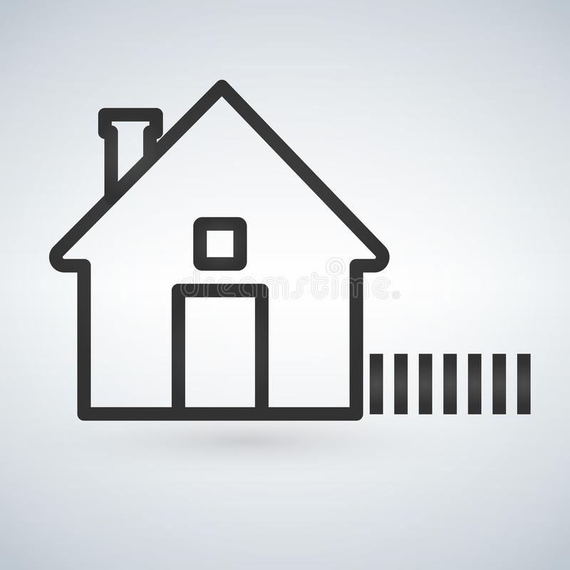 Ícone home do esboço isolado no fundo claro Pictograma da casa Linha símbolo para seu projeto da site, logotipo do homepage, app, ilustração royalty free
