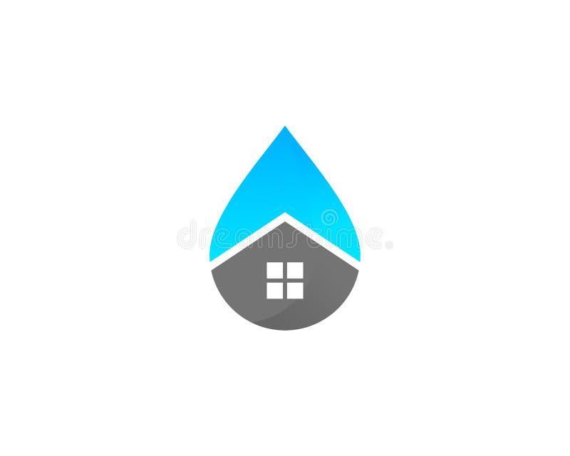 Ícone home Logo Design Element da água da casa ilustração do vetor