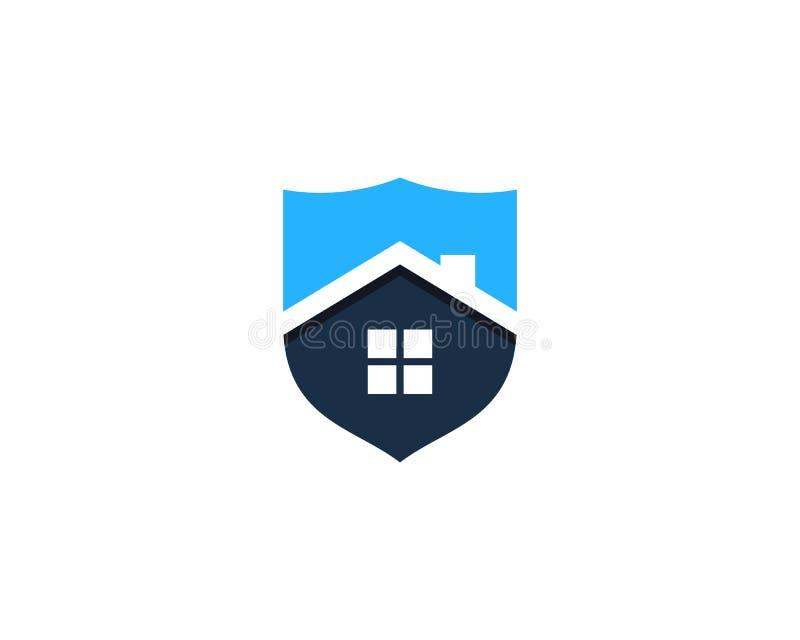 Ícone home Logo Design Element da segurança do protetor da casa ilustração royalty free