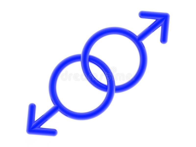 Ícone homossexual ilustração royalty free