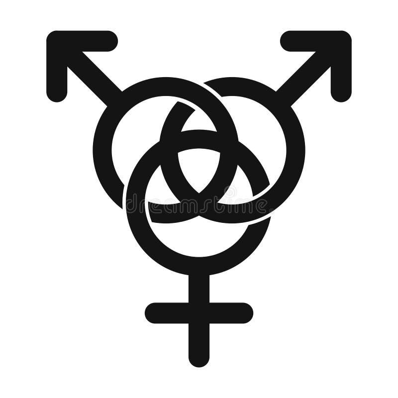 Ícone homossexual da família ilustração royalty free