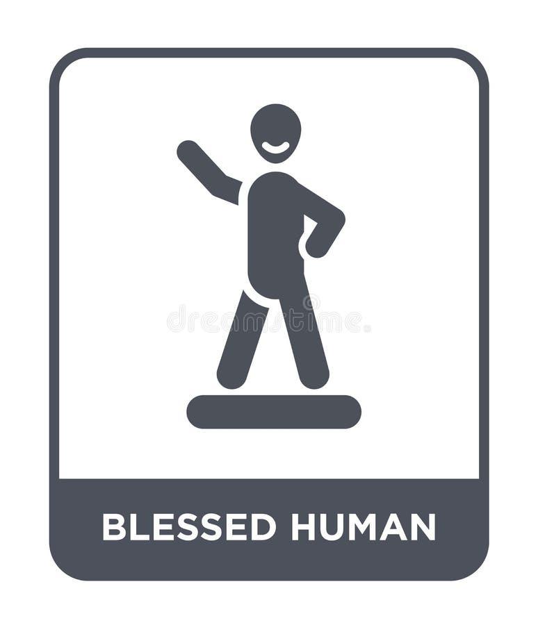 ícone humano abençoado no estilo na moda do projeto ícone humano abençoado isolado no fundo branco ícone humano abençoado do veto ilustração do vetor