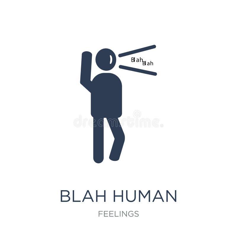 ícone humano blá Ícone humano blá do vetor liso na moda no CCB branco ilustração stock