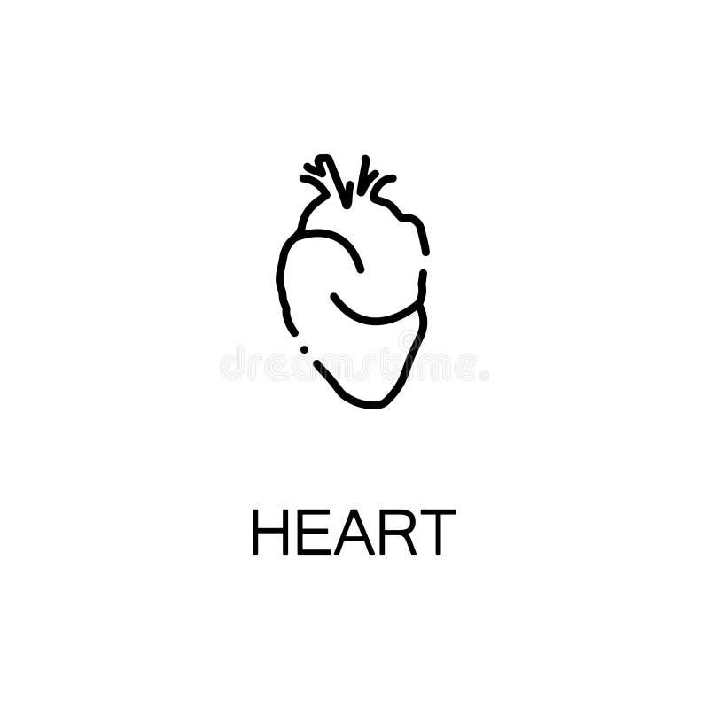 Ícone humano do coração ilustração stock
