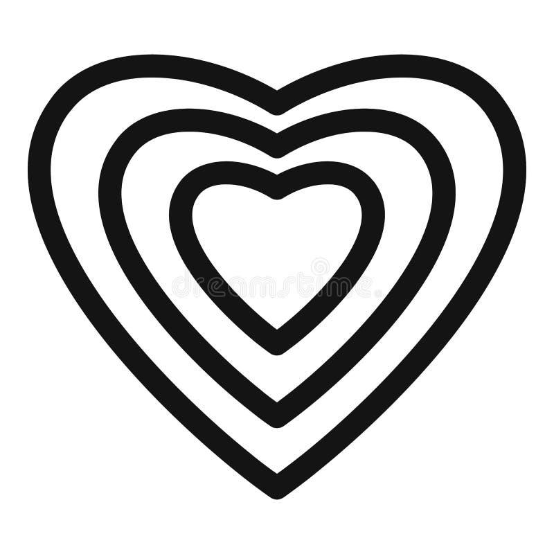 Ícone humano do coração, estilo simples ilustração stock