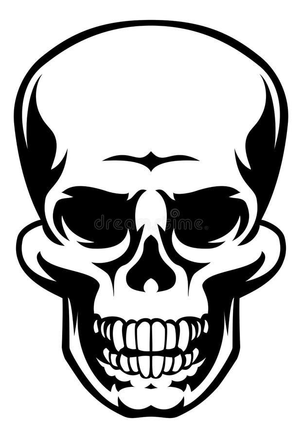 Ícone humano do crânio ilustração royalty free