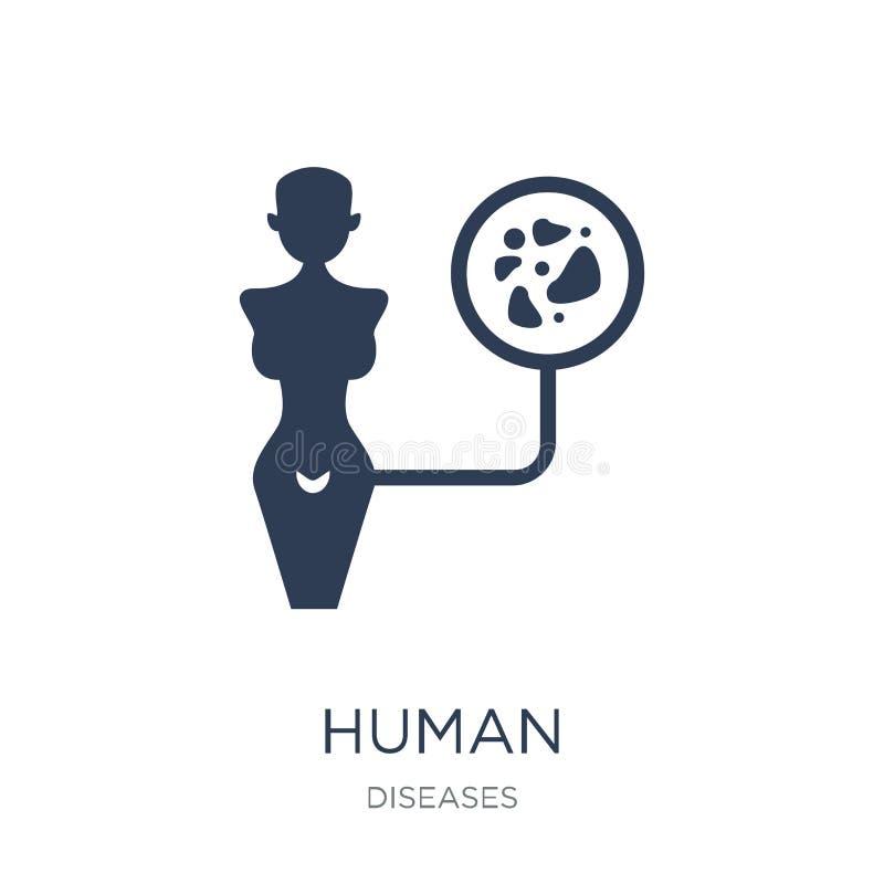 Ícone humano do papillomavirus Papillomavir humano do vetor liso na moda ilustração stock