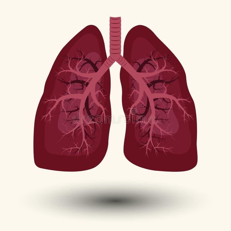 Ícone humano do pulmão ilustração stock