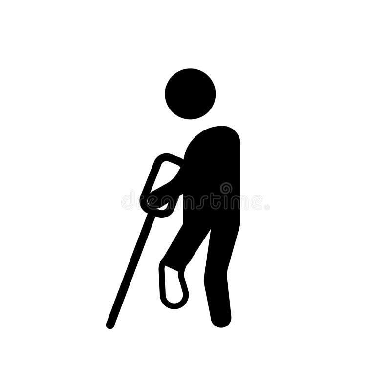 ícone humano ferido Conceito humano ferido na moda do logotipo no backgro branco ilustração royalty free
