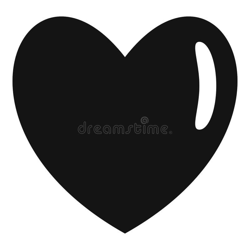 Ícone humano morno do coração, estilo simples ilustração stock