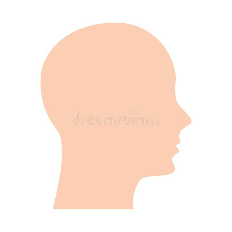 Ícone humano principal do perfil ilustração do vetor