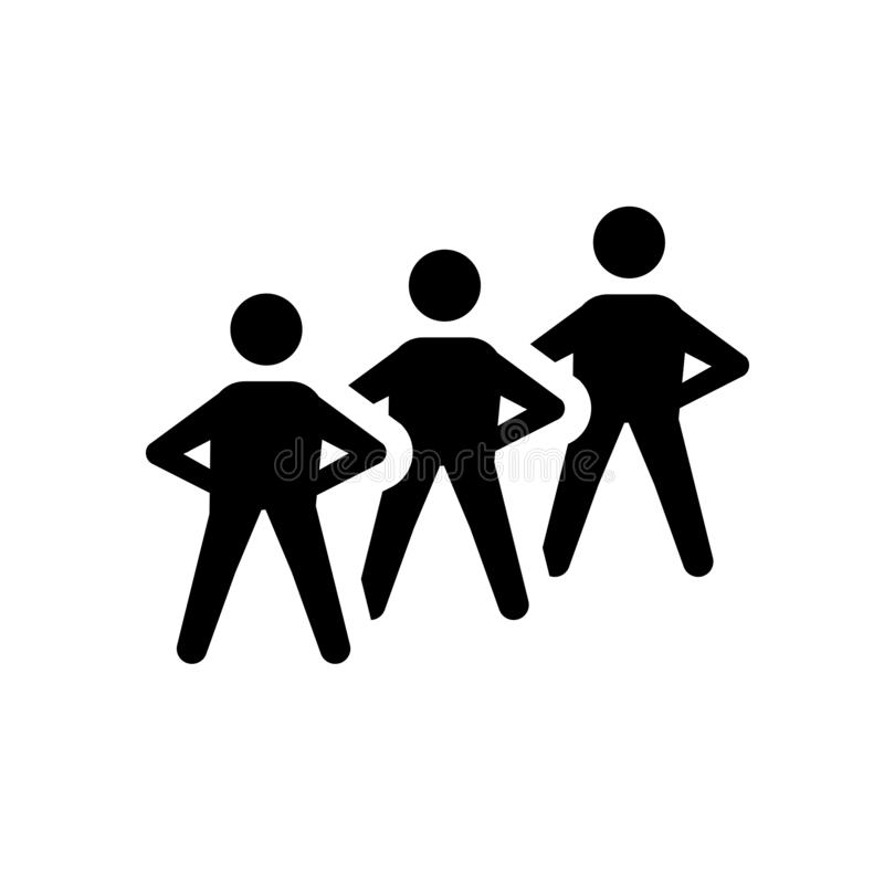 ícone humano satisfeito Conceito humano satisfeito na moda do logotipo em b branco ilustração stock