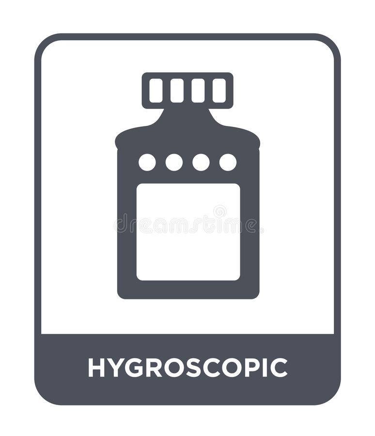 ícone hygroscopic no estilo na moda do projeto ícone hygroscopic isolado no fundo branco ícone hygroscopic do vetor simples e mod ilustração royalty free