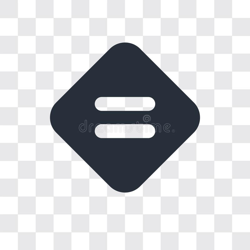 Ícone igual do vetor isolado no fundo transparente, projeto igual do logotipo ilustração royalty free