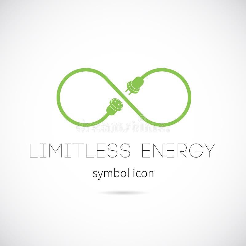 Ícone ilimitado do símbolo do conceito do vetor da energia ilustração royalty free