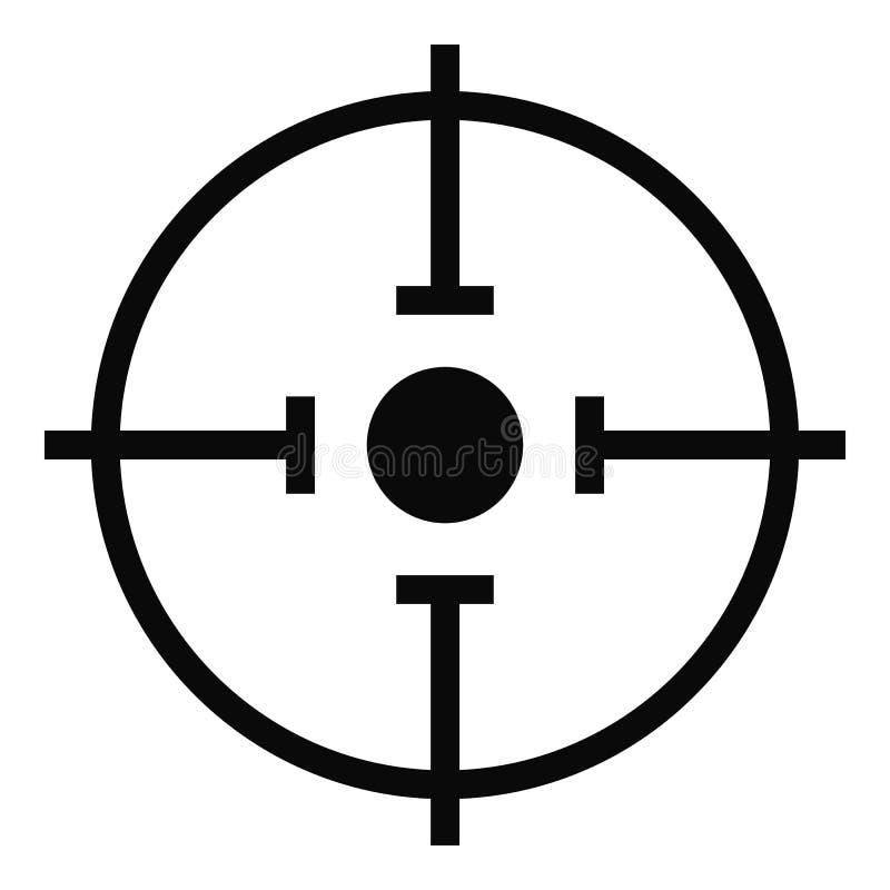 Ícone importante do alvo, estilo simples ilustração royalty free