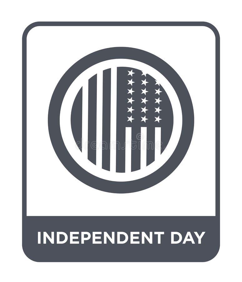ícone independente do dia no estilo na moda do projeto ícone independente do dia isolado no fundo branco ícone independente do ve ilustração stock