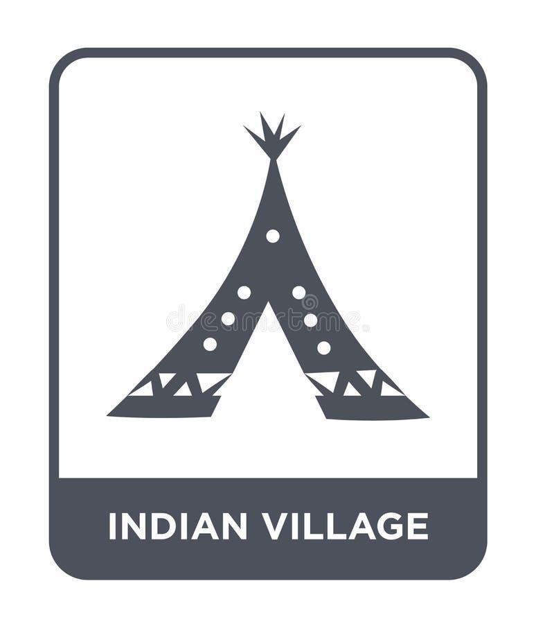 ícone indiano da vila no estilo na moda do projeto ícone indiano da vila isolado no fundo branco ícone indiano do vetor da vila s ilustração stock