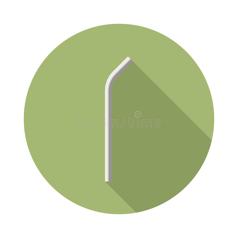 Ícone inoxidável da palha ilustração stock