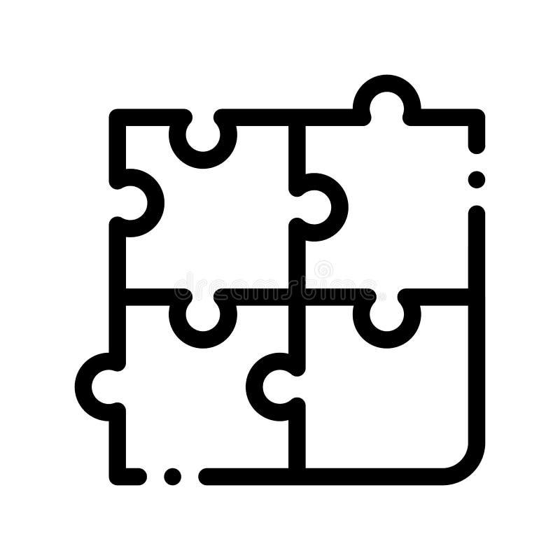 Ícone interativo do sinal do vetor do enigma do jogo das crianças ilustração royalty free