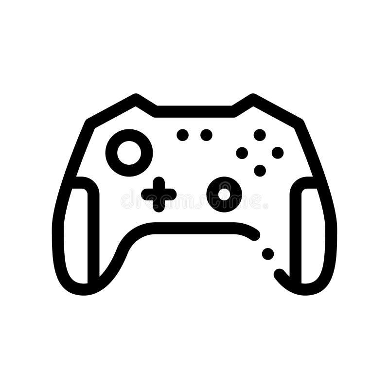 Ícone interativo do vetor de Gamepad dos jogos de vídeo das crianças ilustração stock