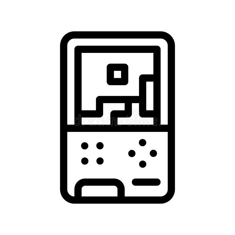 Ícone interativo do vetor do jogo de vídeo das crianças ilustração stock