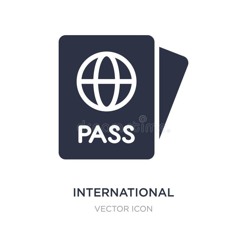 ícone internacional do passaporte no fundo branco Ilustração simples do elemento do conceito da tecnologia ilustração royalty free